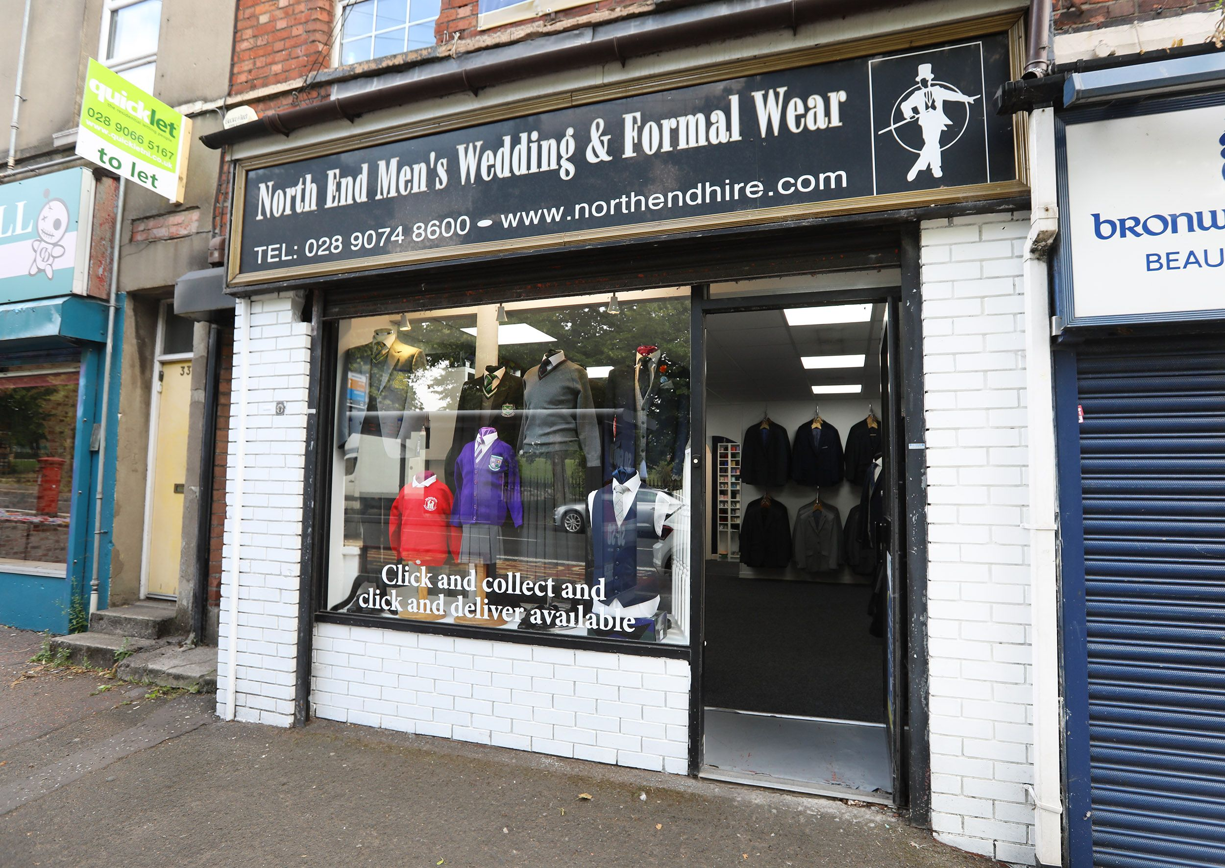 AT YOUR SERVICE: Northend Schoolwear really is a one stop shop
