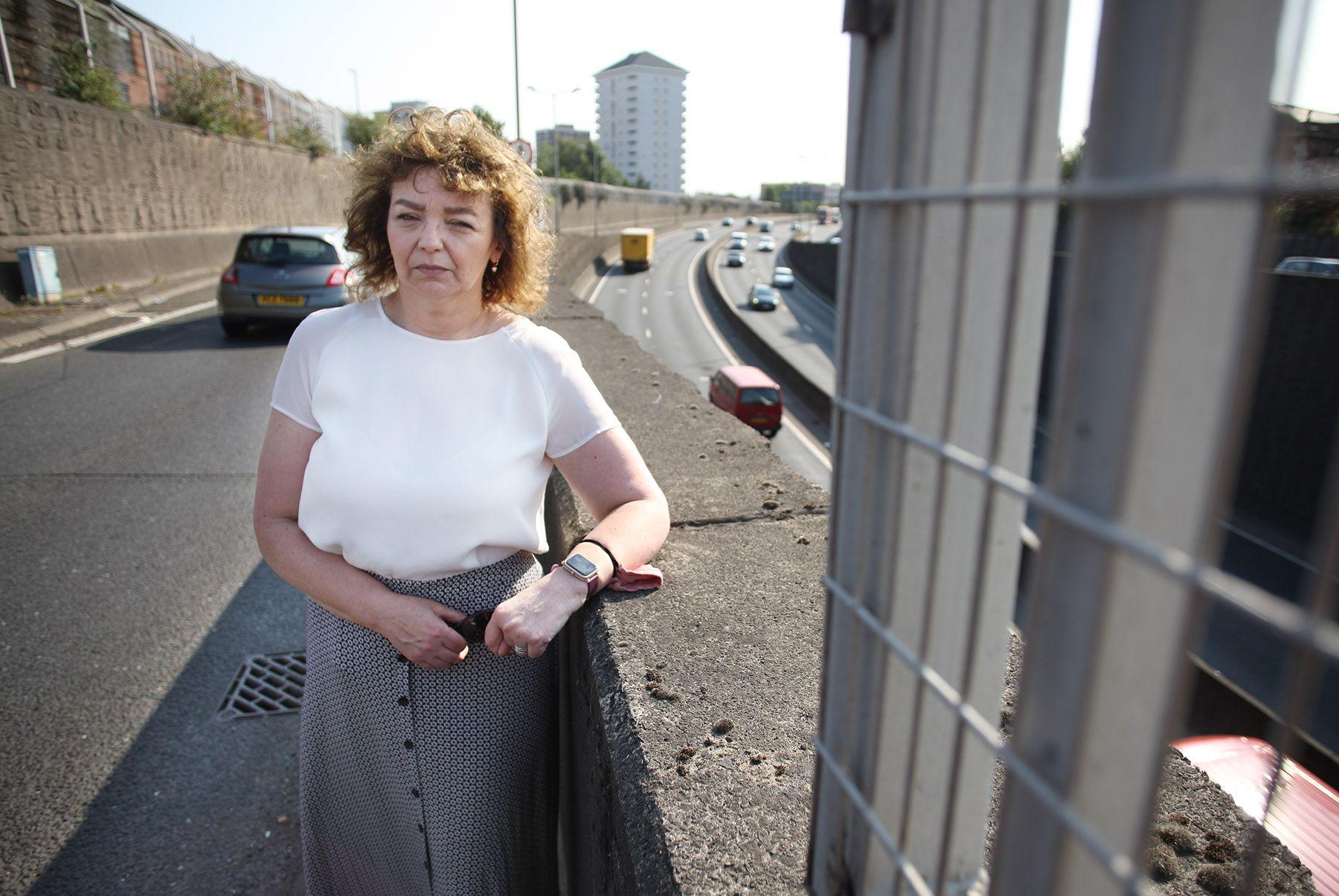 WELCOME PROGRESS: North Belfast Sinn Féin MLA Carál Ní Chuilín at a Westlink bridge