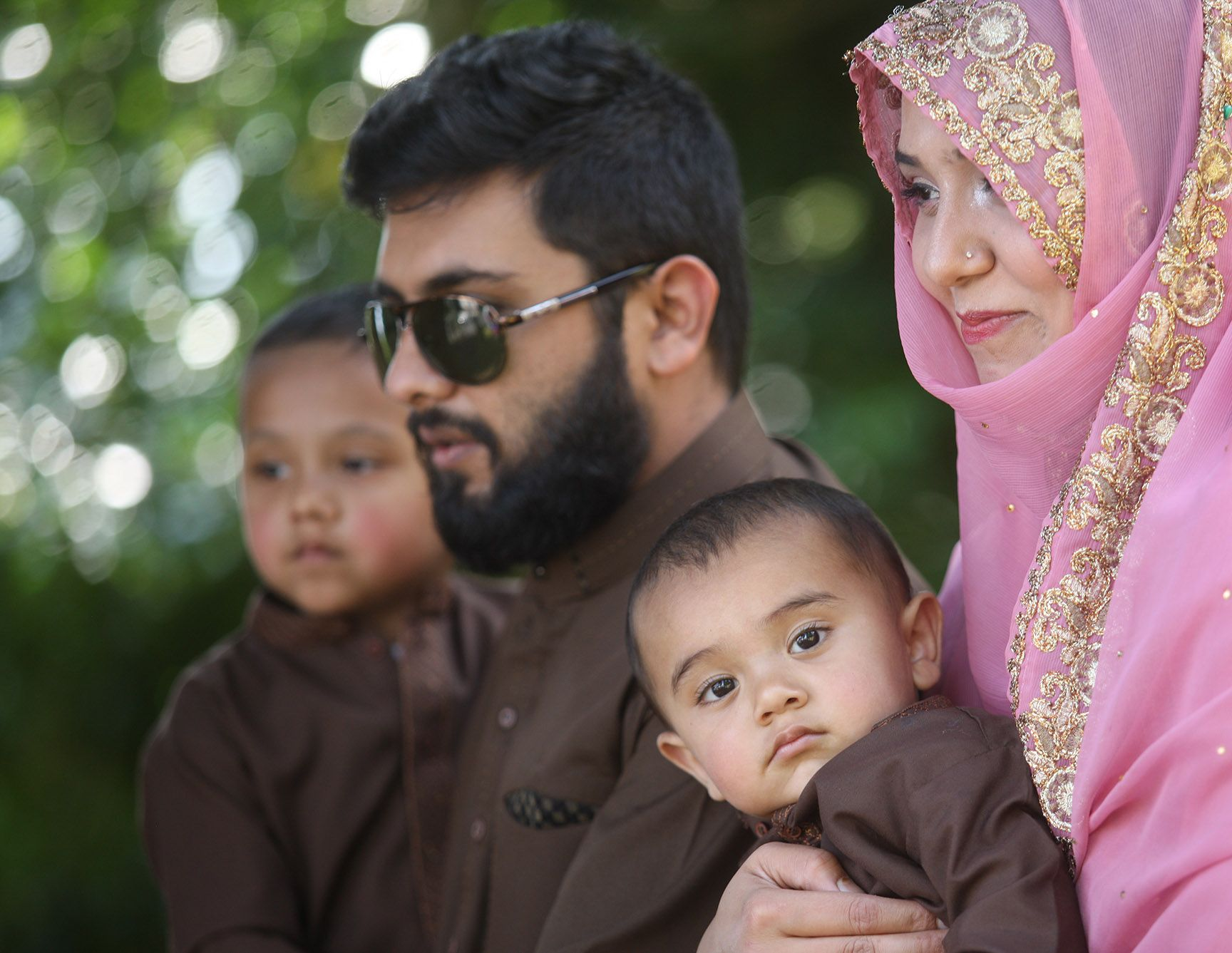 EID MUBARAK: The garden party and barbecue allowed families to celebrate together
