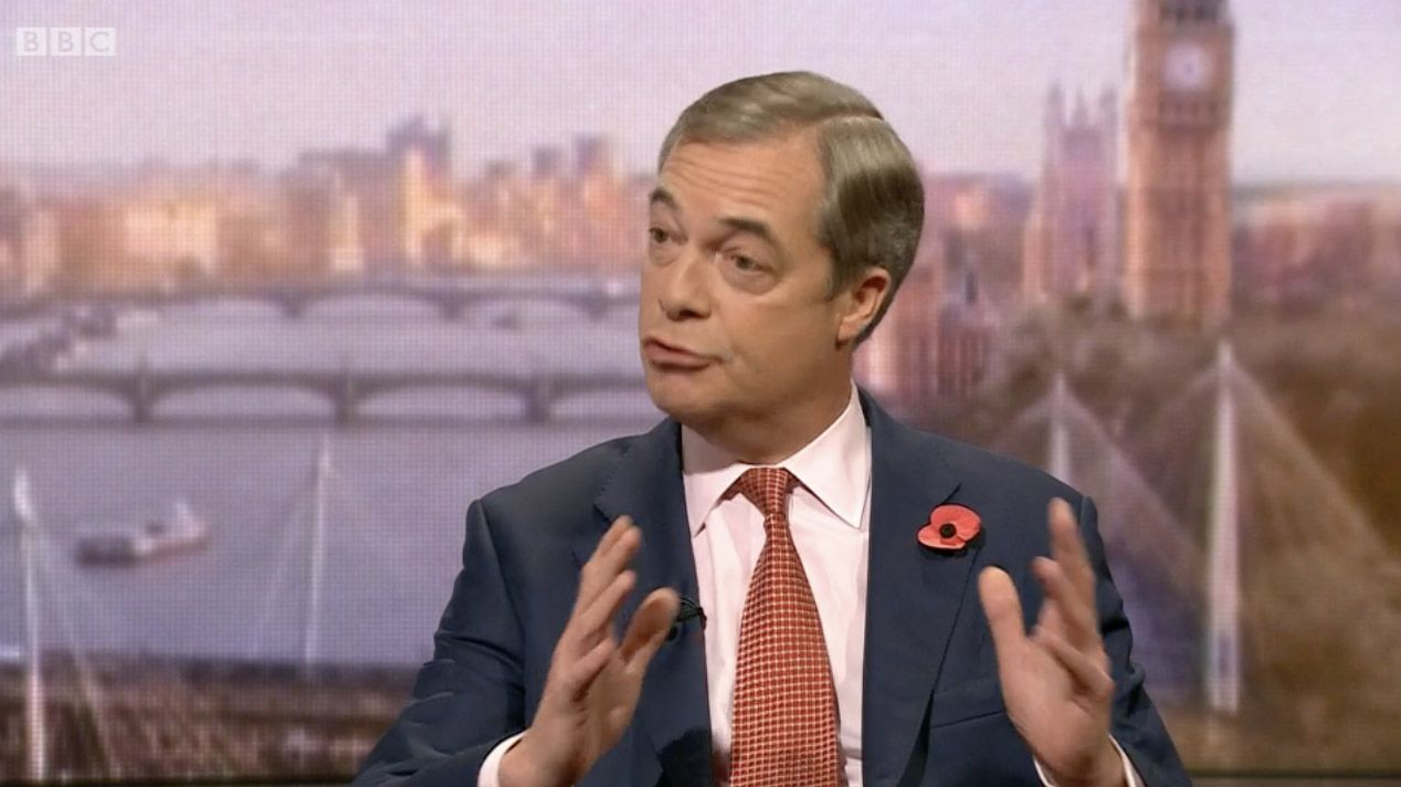 POLITICO: Nigel Farage has found a new home as a presenter  on the floundering GBNews