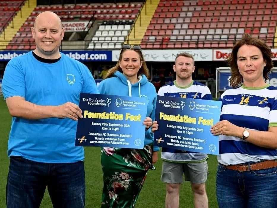 FOUNDATION FEST: Gavin Clements, Cate Conway, Paddy Barnes and Niamh Donohoe at the launch at Seaview