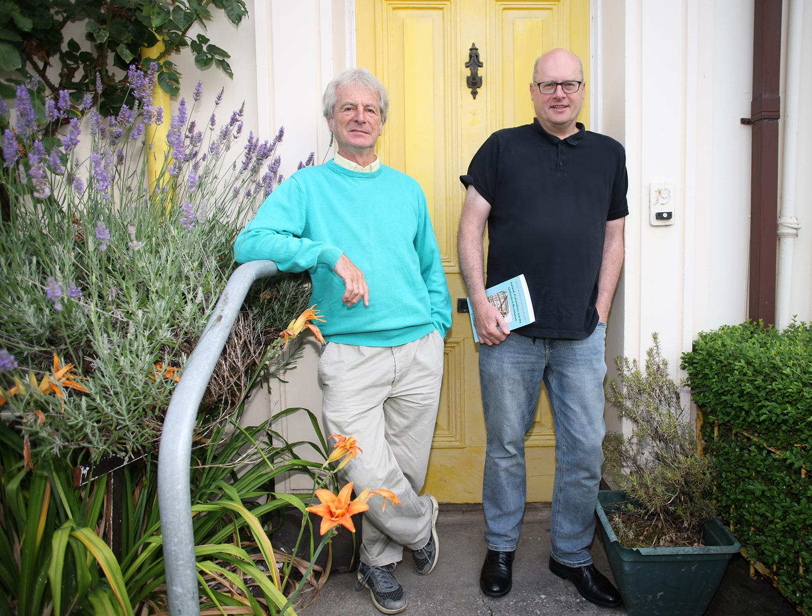 OPENING DOOR TO PAST: Co-authors Robbie McVeigh and Bill Rolston
