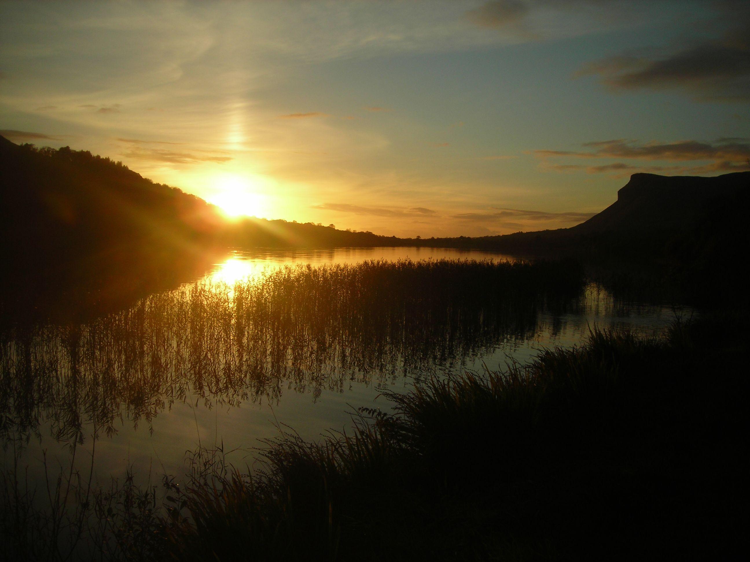 SPLENDIFEROUS: Sunset at Glencar Lake, Co Leitrim.