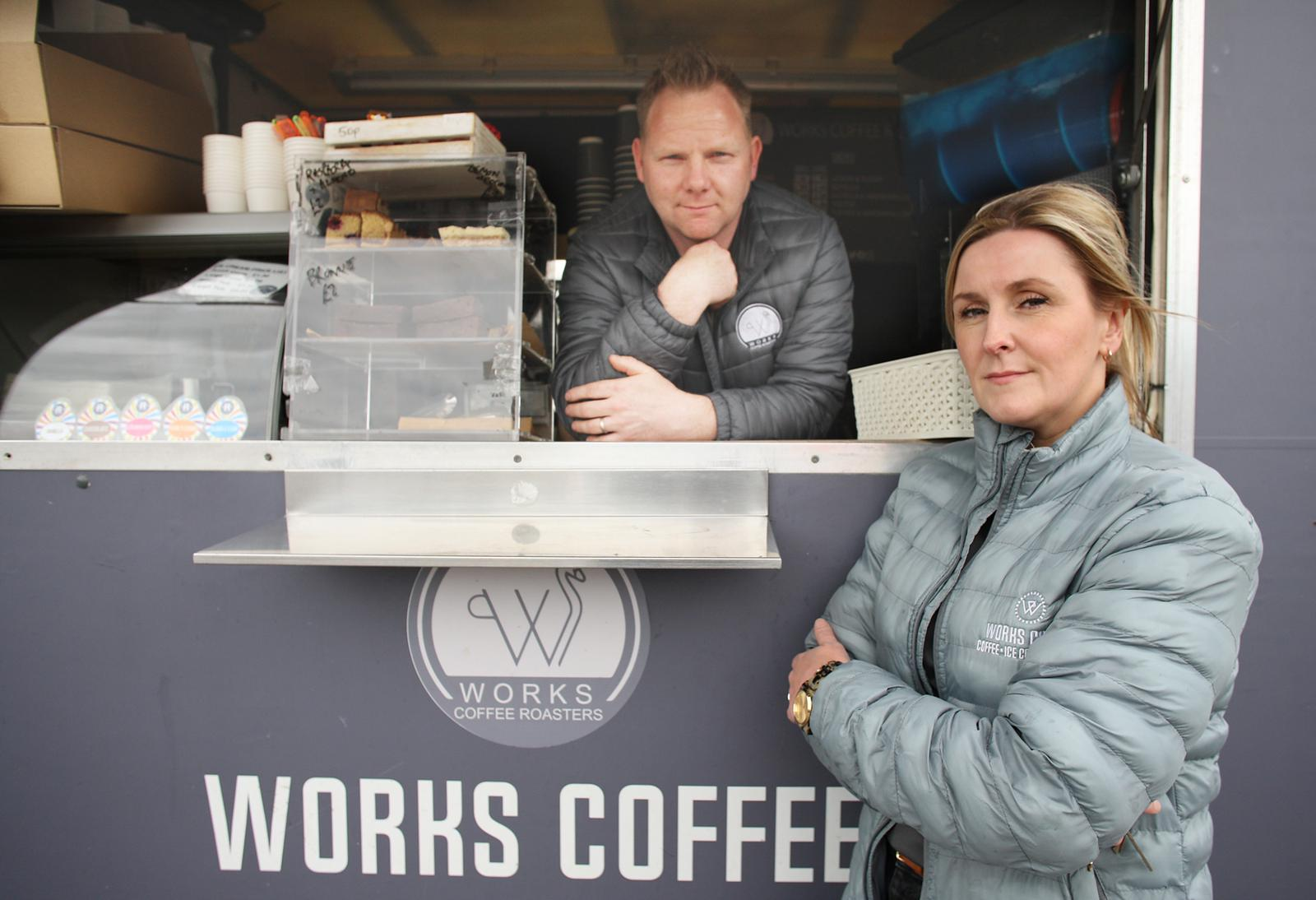 NEW BEGINNINGS: Jim and Claire Mallon of Works Coffee Roasters