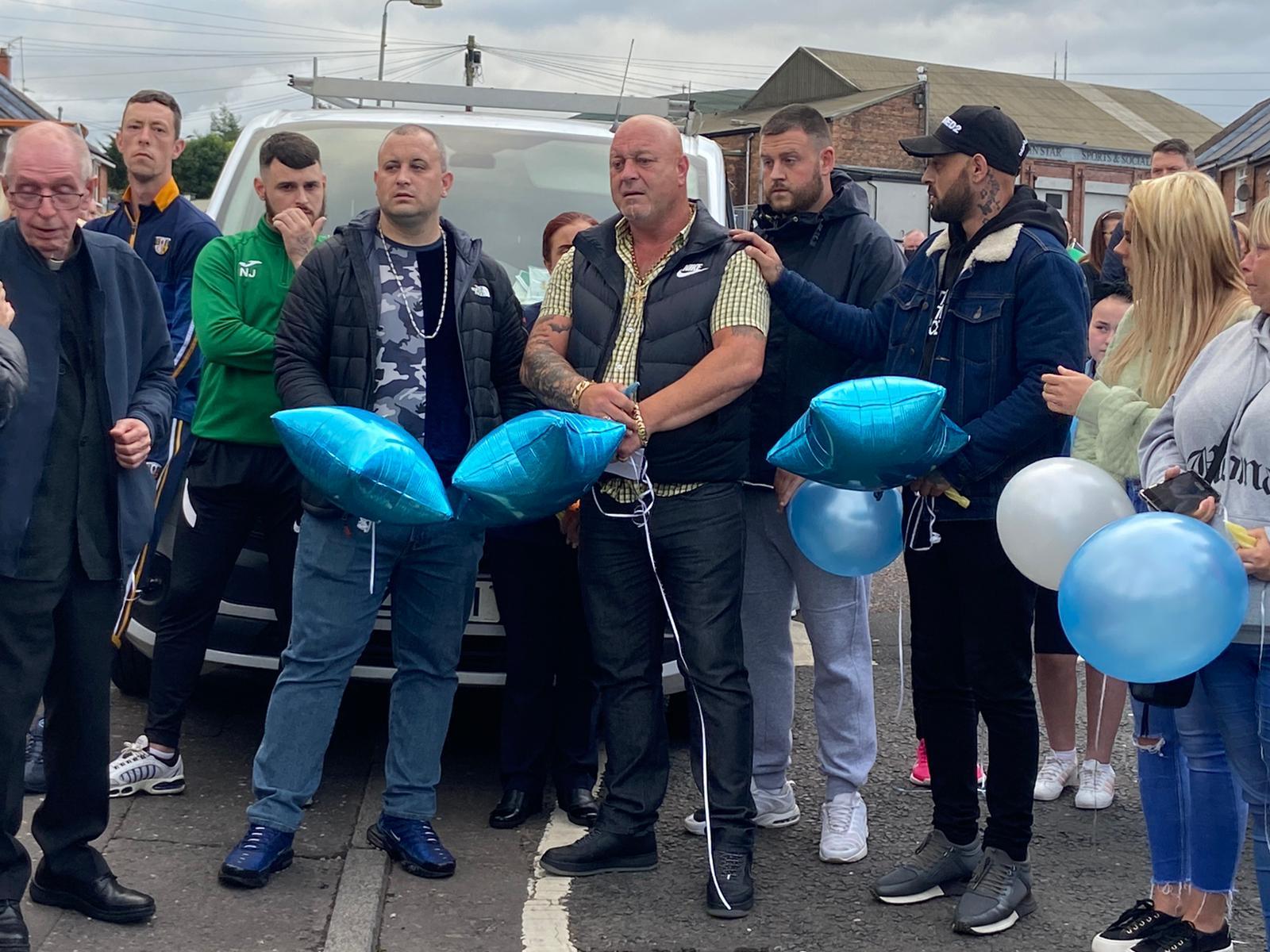 SUPPORT: Liam O\'Keefe Snr at the vigil in Ardoyne
