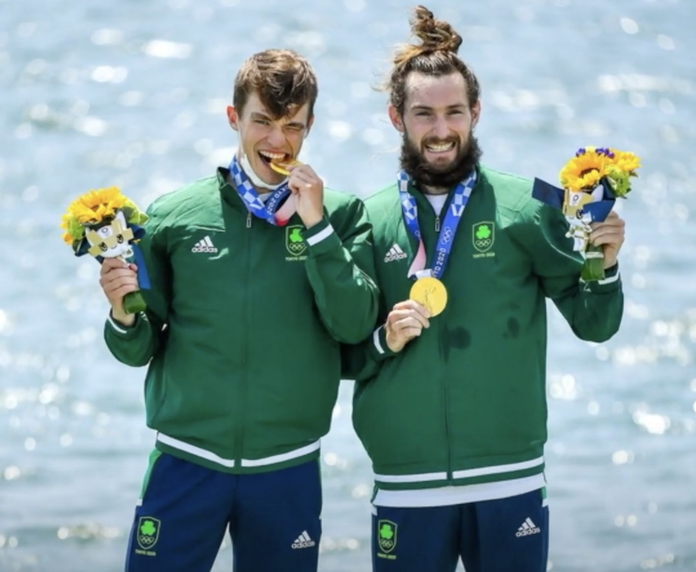 INSPIRING:Fintan McCarthy and Paul O\'Donovan make history as the Irish win their first ever rowing gold medal