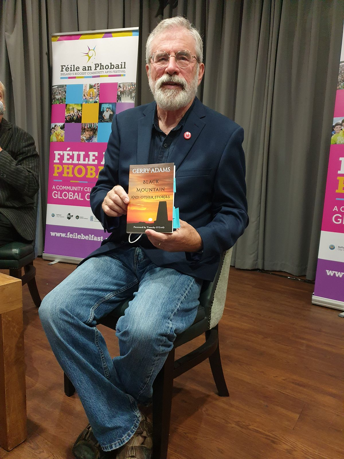 COLLECTION: Gerry Adams with his new book Black Mountain and Other Stories at the Felons Club