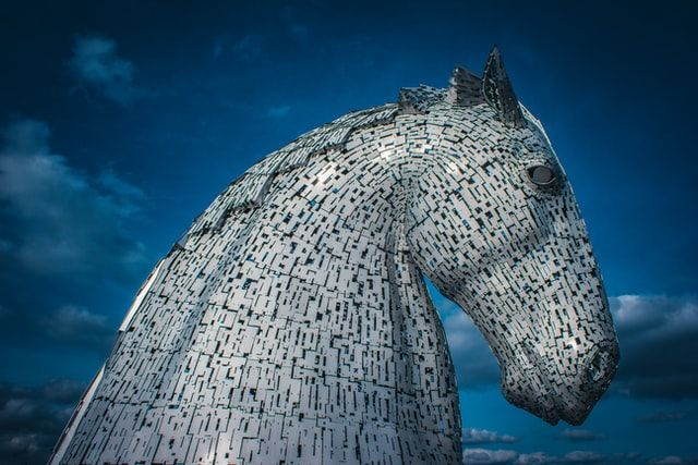 TRADITIONS UNDER THREAT: The famed Kelpie sea horse statues in Falkirk which depict the mythic horse which can take human shape