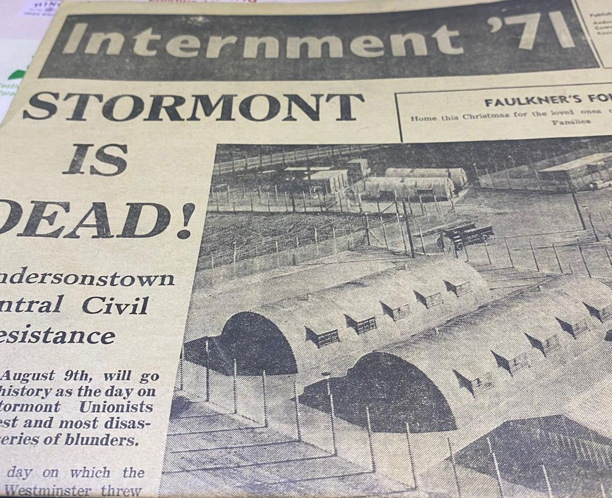 ANNIVERSARY:An Andersonstown Central Civil Resistance Committee publication before the Andersonstown News was founded