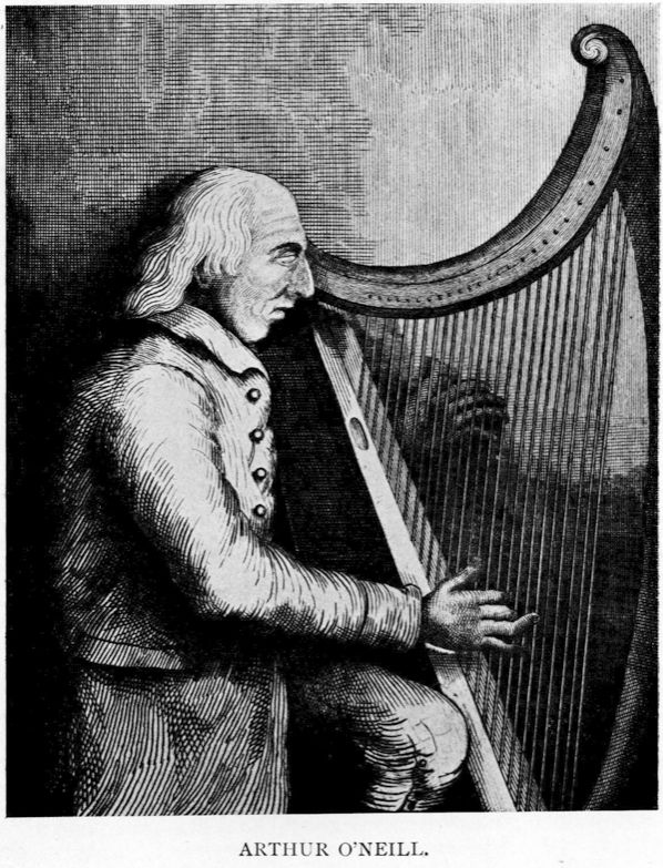 VIRTUOSO:Blind harpist Arthur O'Neill claimed to be descended from Irish royalty and always demanded to be seated at the top table