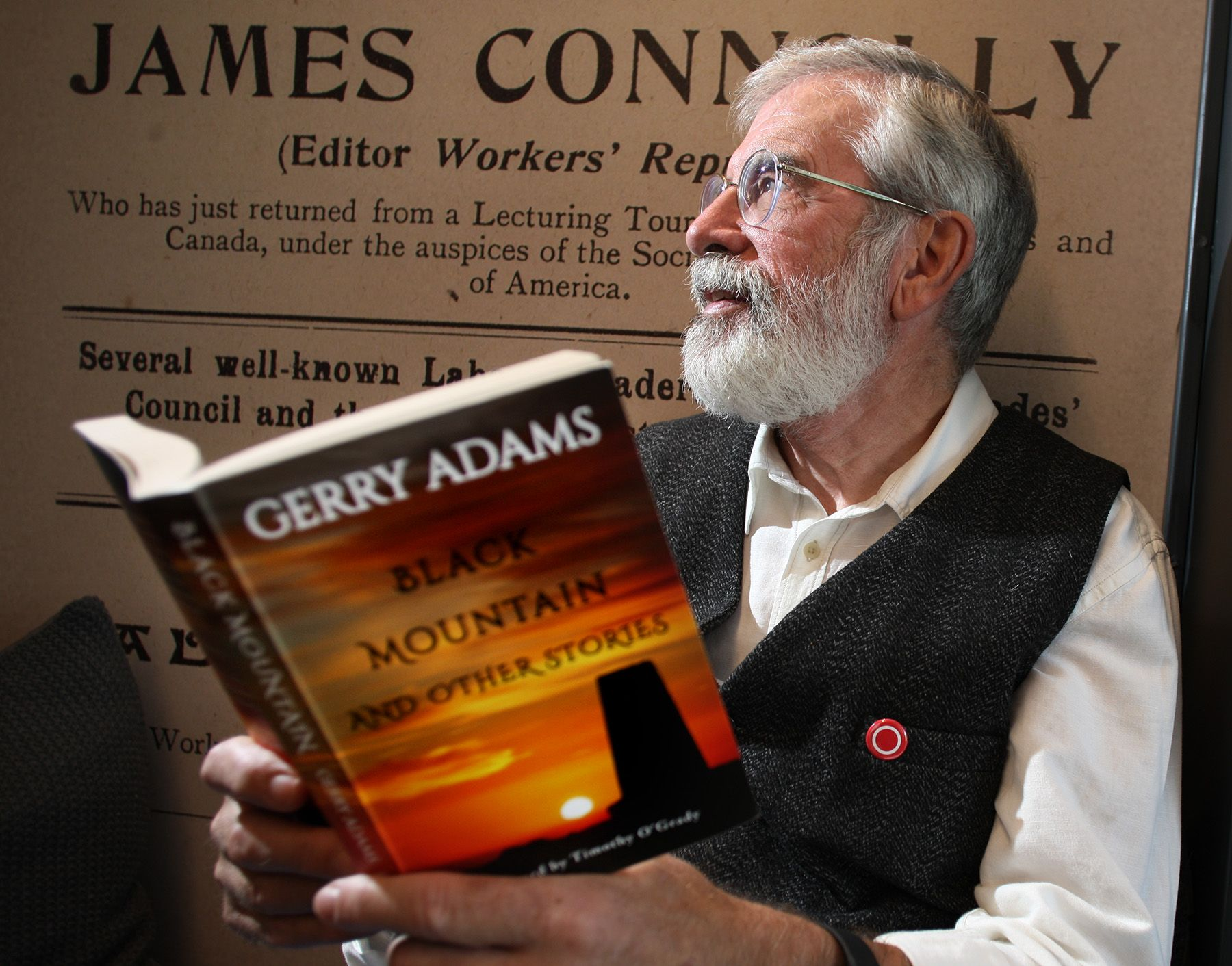BLACK MOUNTAIN: Gerry Adams is on familiar grounds with his new collection of short stories