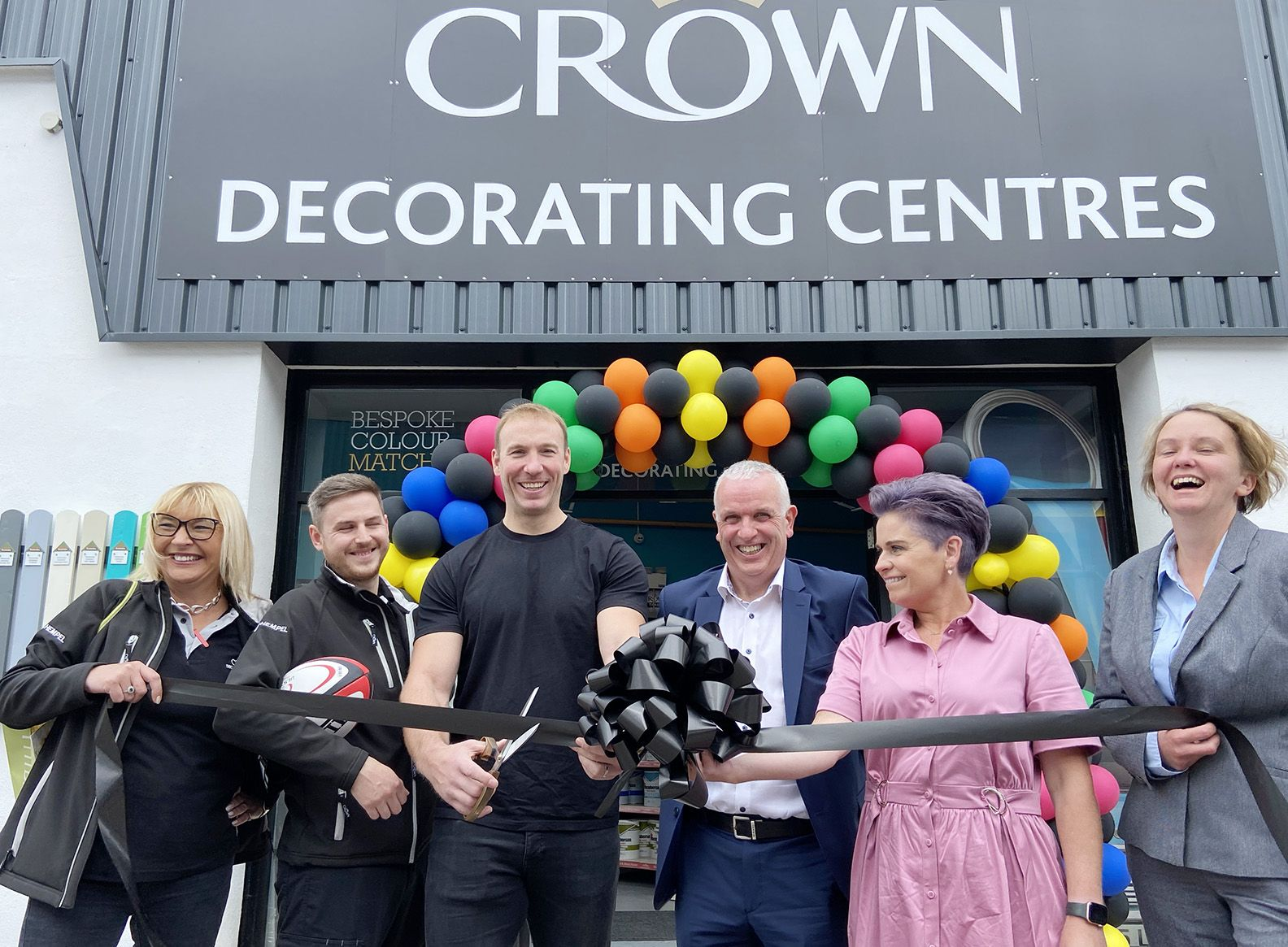 GRAND OPENING: The new Crown Decorating Centre on the Saintfield Road was opened by Stephen Ferris