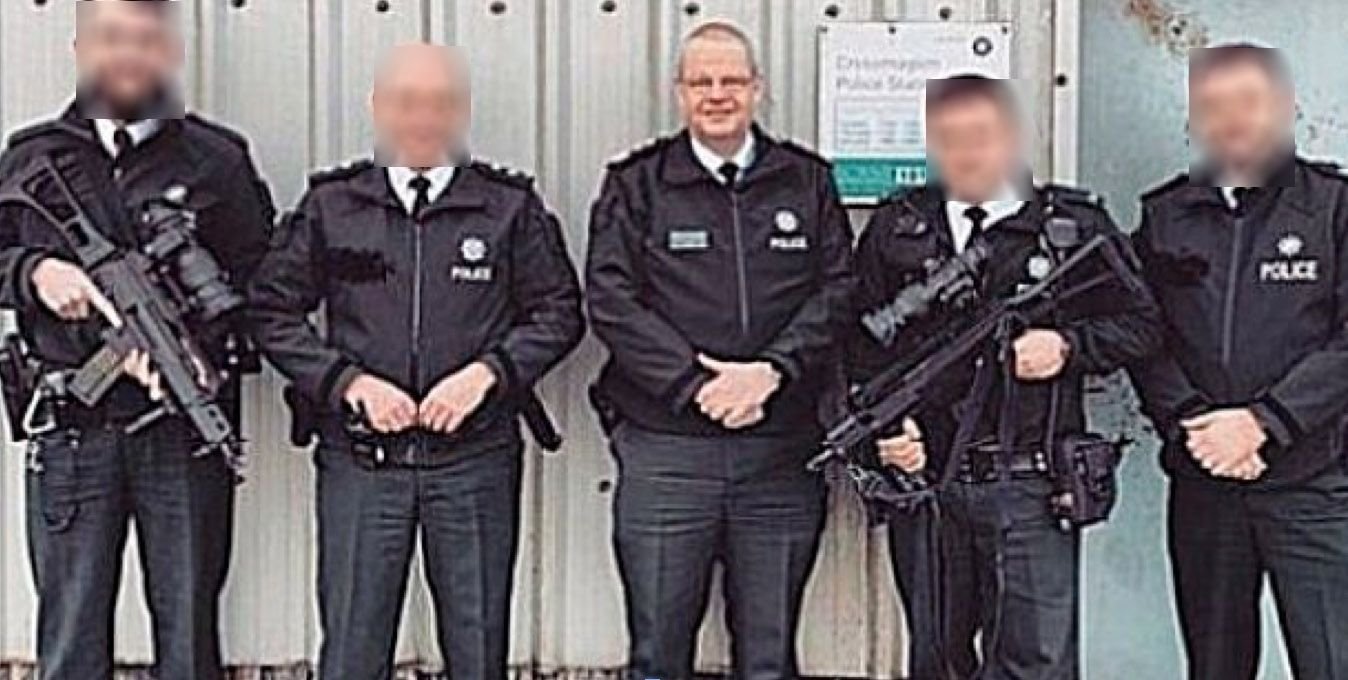 CATALYST: The picture of the Chief Constable in Crossmaglen on Christmas day sparked a review