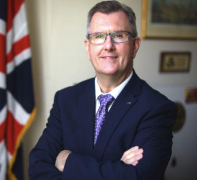 DUBLIN VISIT: Sir Jeffrey Donaldson has taken the reins of the DUPat a tough time for the party