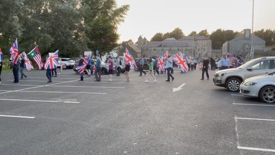 WHERE'D EVERYONE GO? The Protocol protest enters the Enniskillen car park