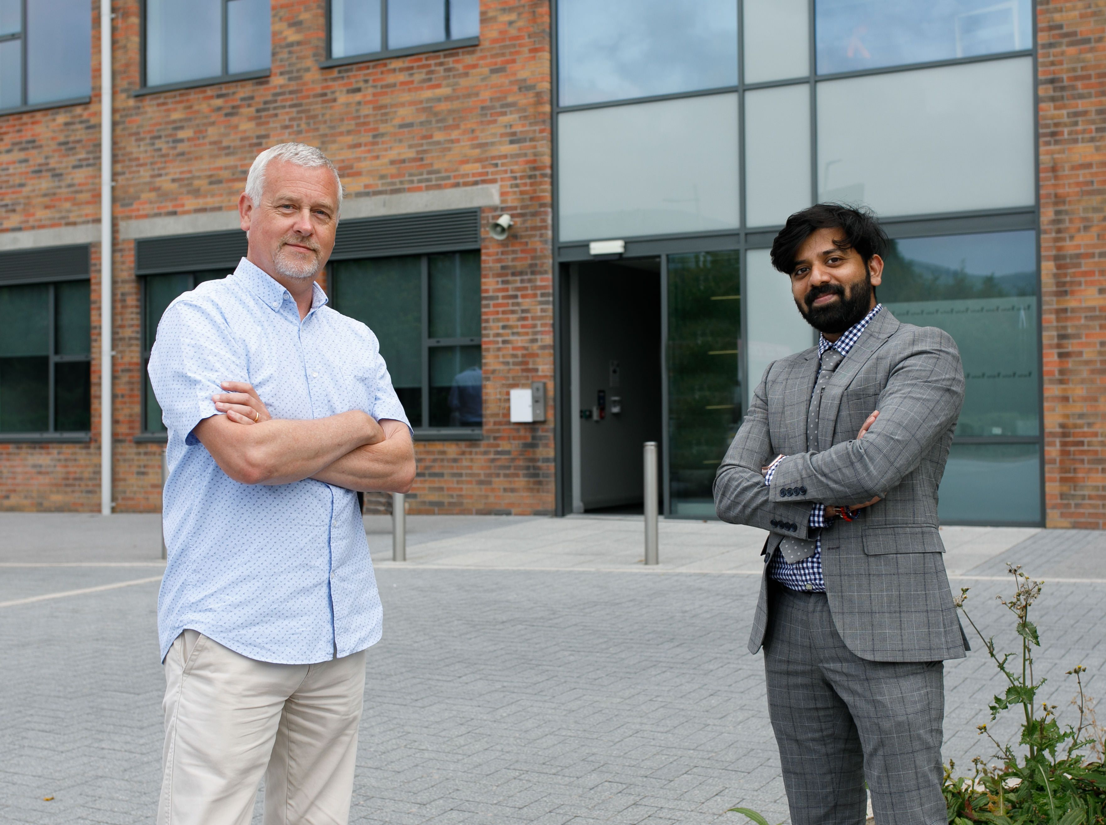 INNOVATION: Azhar Murtuza from Born Maverick with Stephen Ellis, Innovation Manager at Innovation Factory