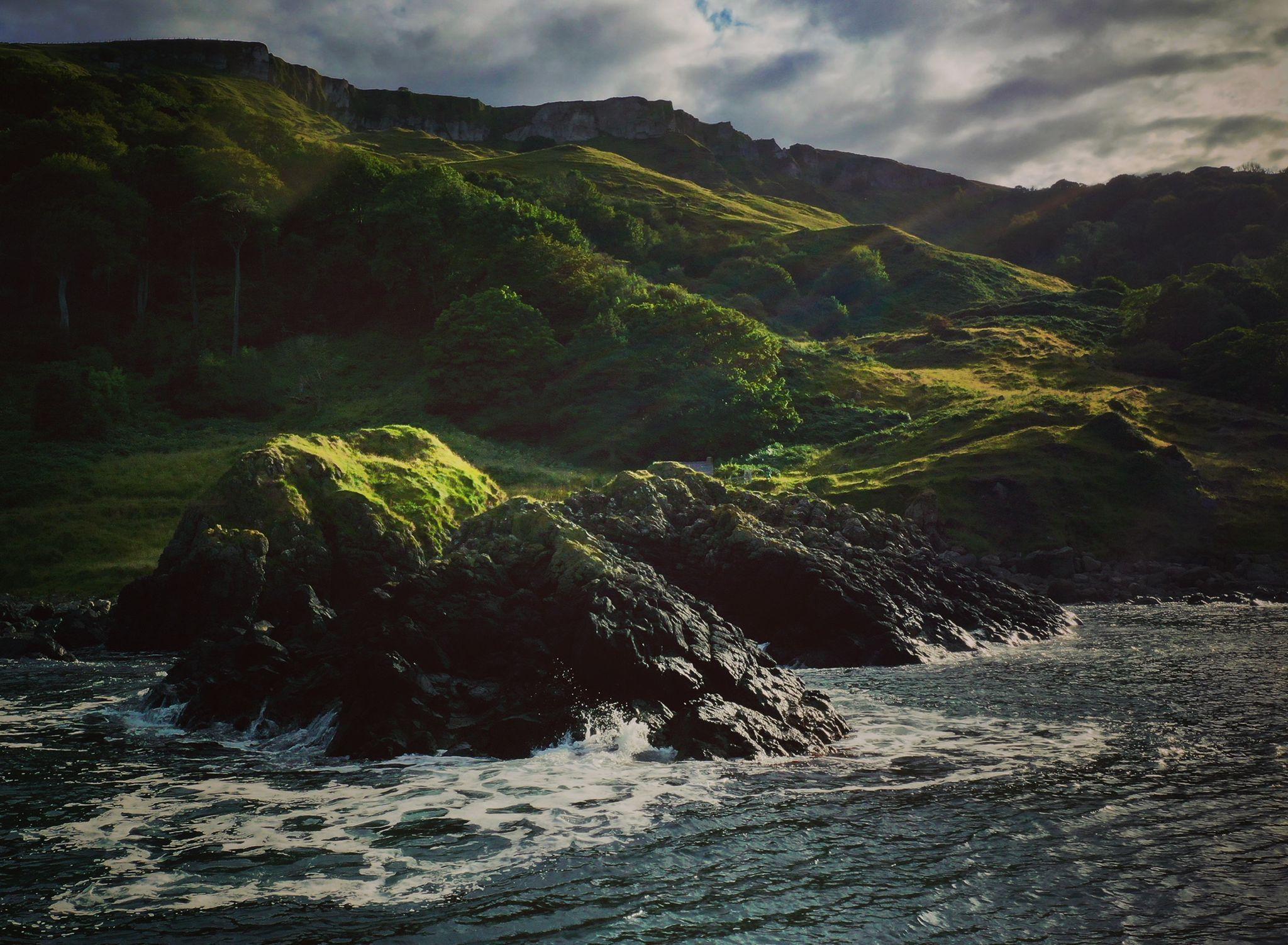 RUGGED: Murlough Bay between Torr Head and Fair Head