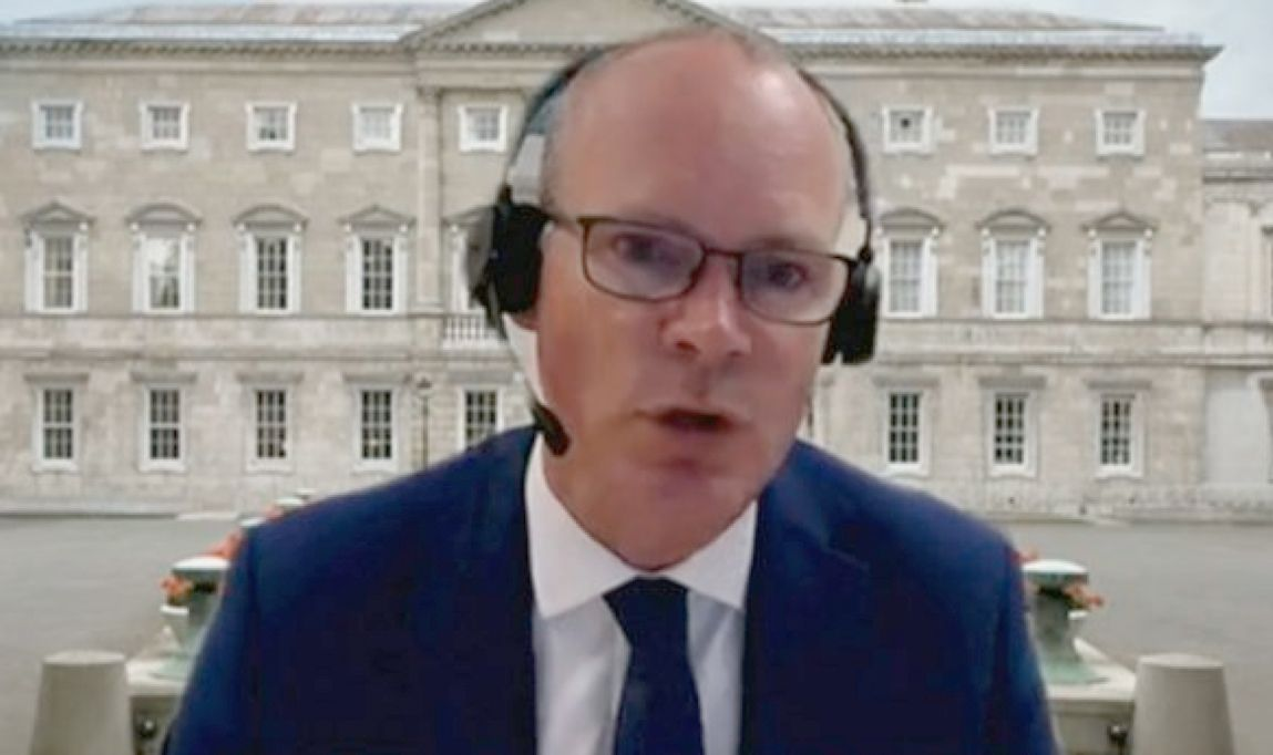 QUESTIONS: Simon Coveney giving evidence to the Committee on Foreign Affairs about the Katherine Zappone appointment – the issue continues to dog the coalition government