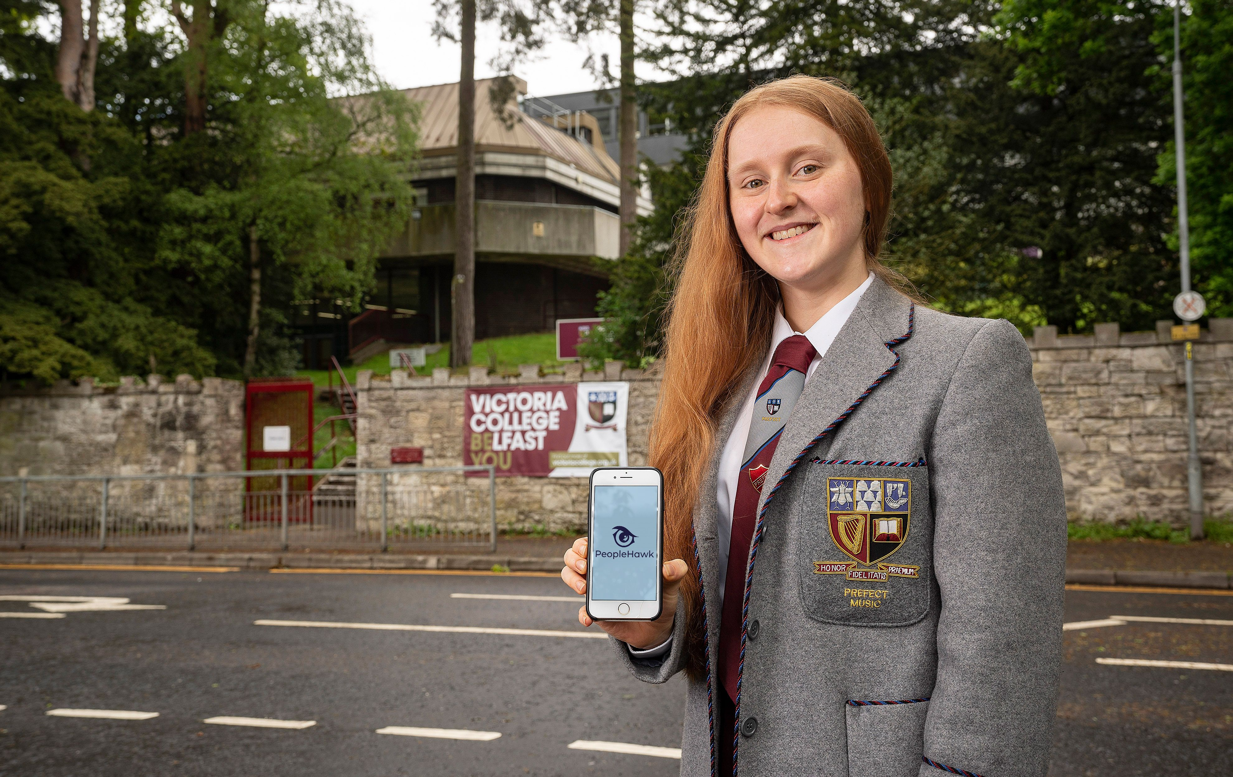 NEW APP BENEFITS: Erin Harvey from Victoria College