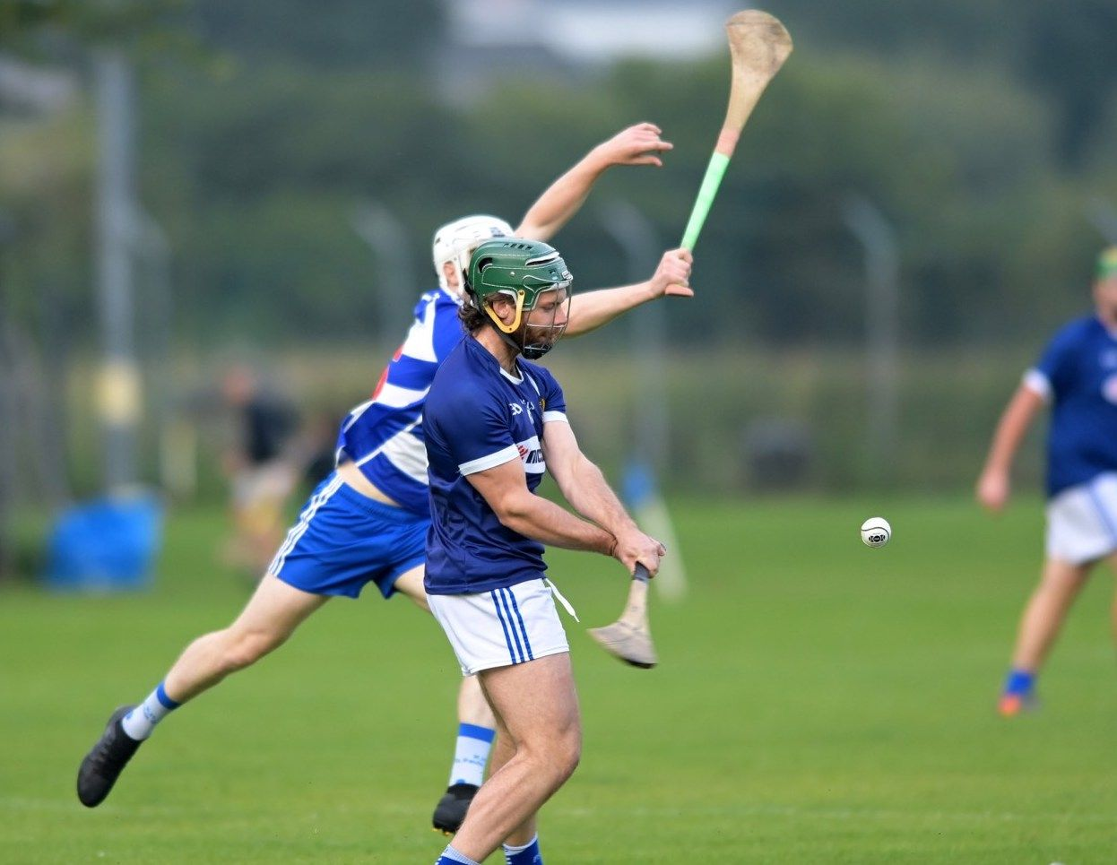 Tomás Ó Ciarain fires over one of his seven points on Wednesday