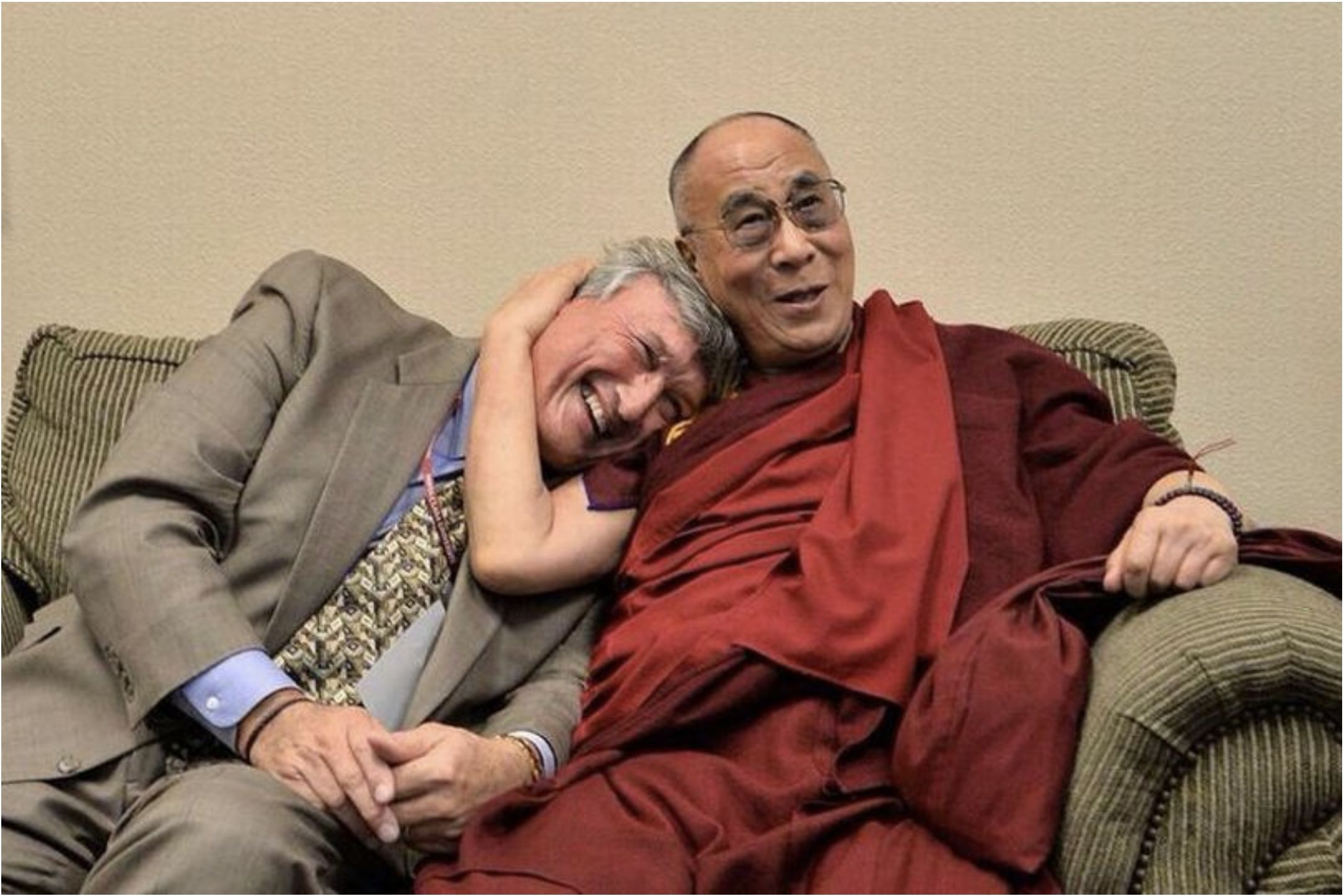 FRIENDS: Dr Jim Doty with the Dalai Lama – Jim says science has proved the benefits of mindfulness