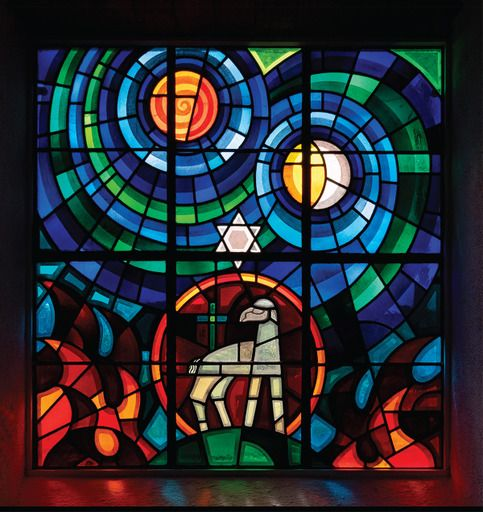 GLASS EYE: A stained glass window from Donaughmore Presbyterian Church in Co Donegal.