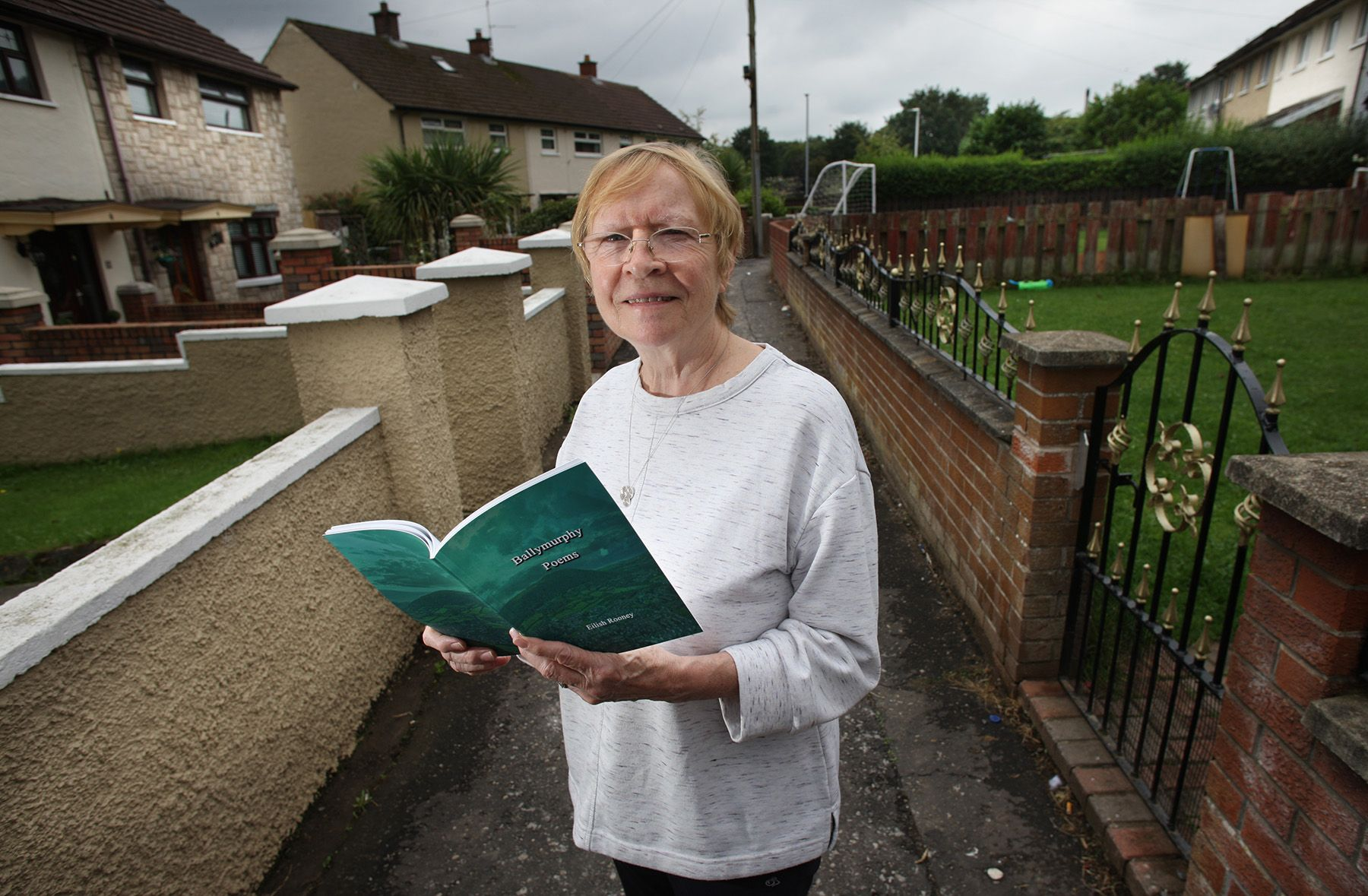POETRY: Eilish has written a book of poems which will help raise money for a memorial garden to the victims of the Ballymurphy Massacre