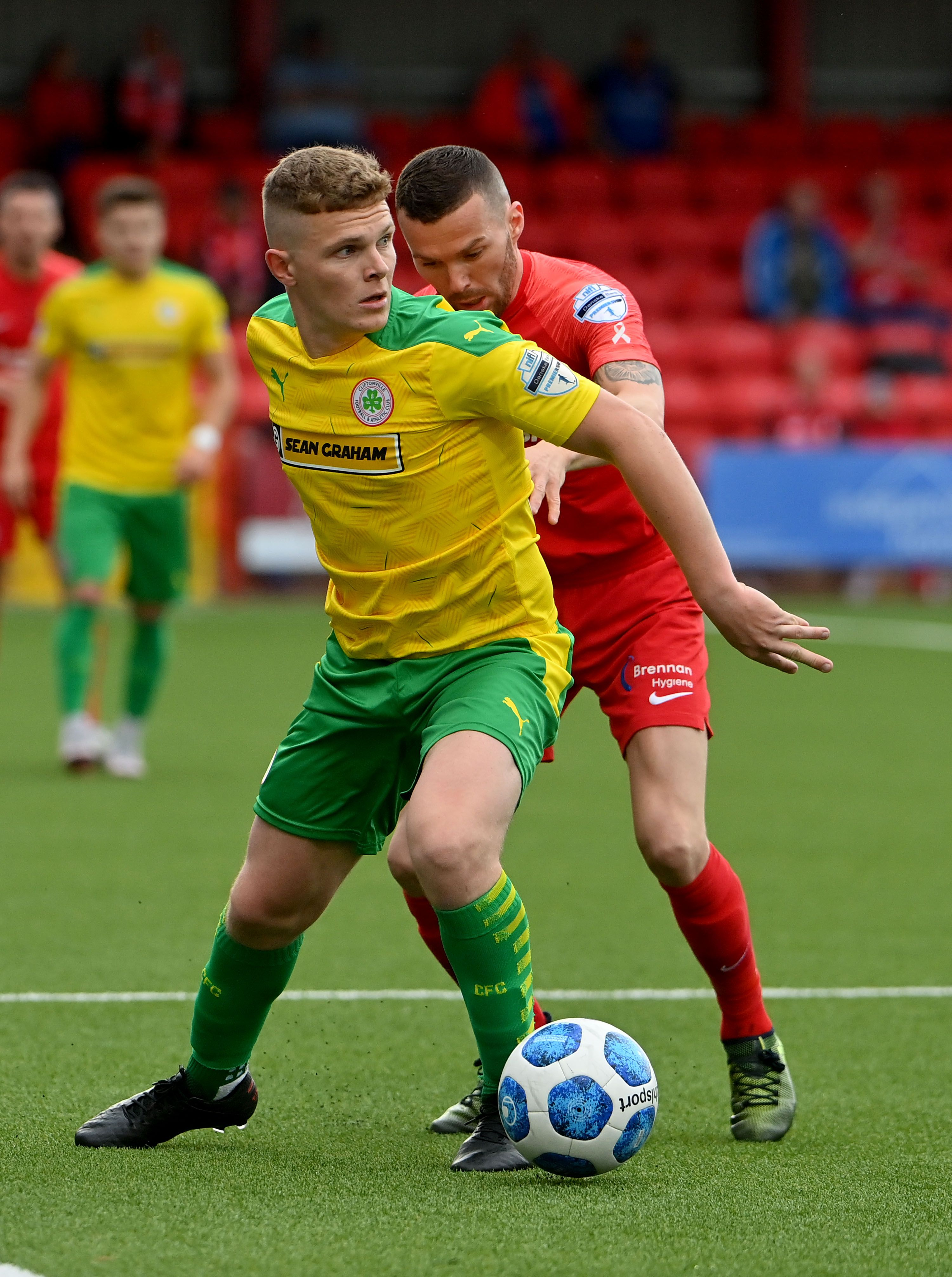 Levi Ives netted Cliftonville\'s second