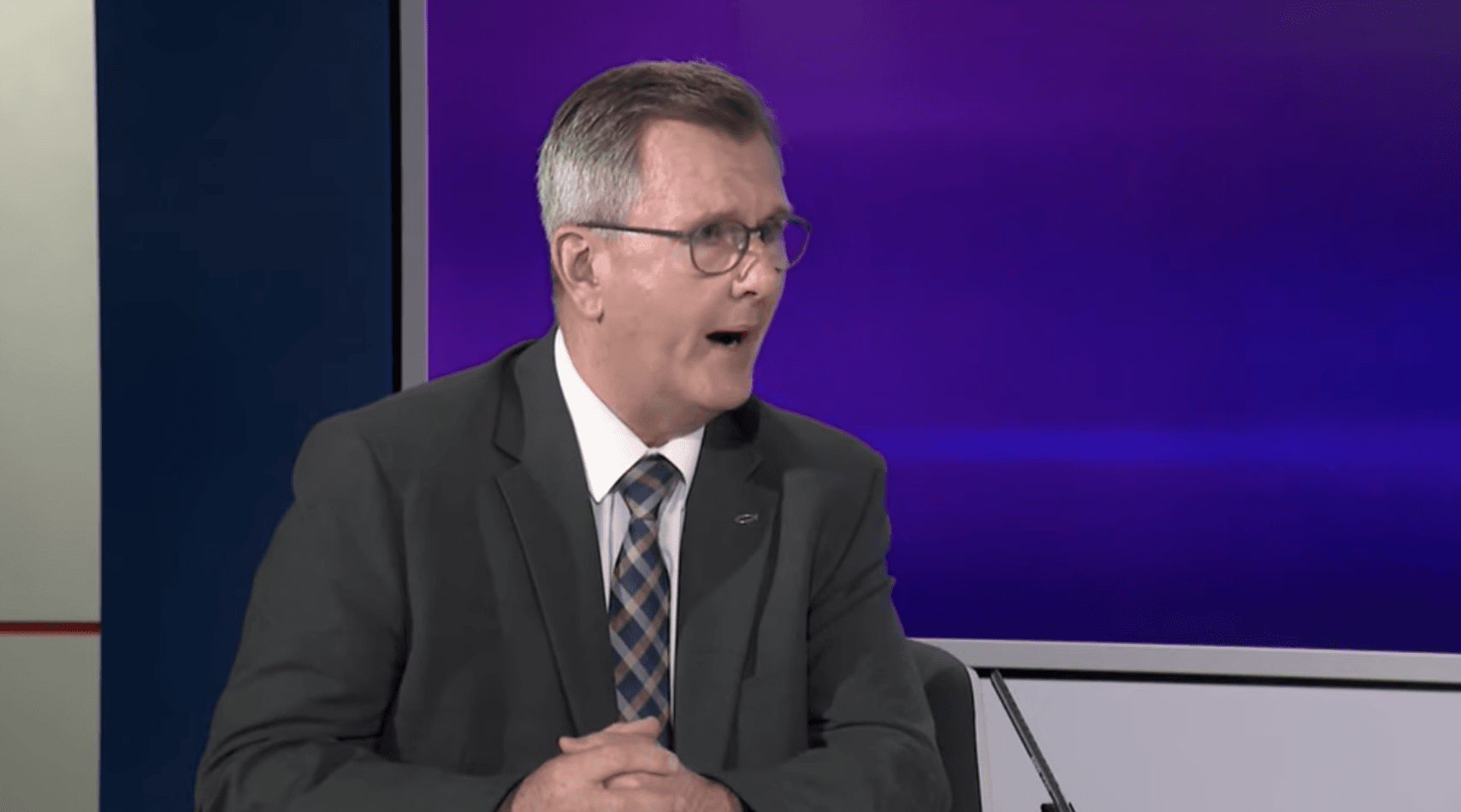 UNDER PRESSURE: Jeffrey Donaldson's party appears to have had a political nervous breakdown