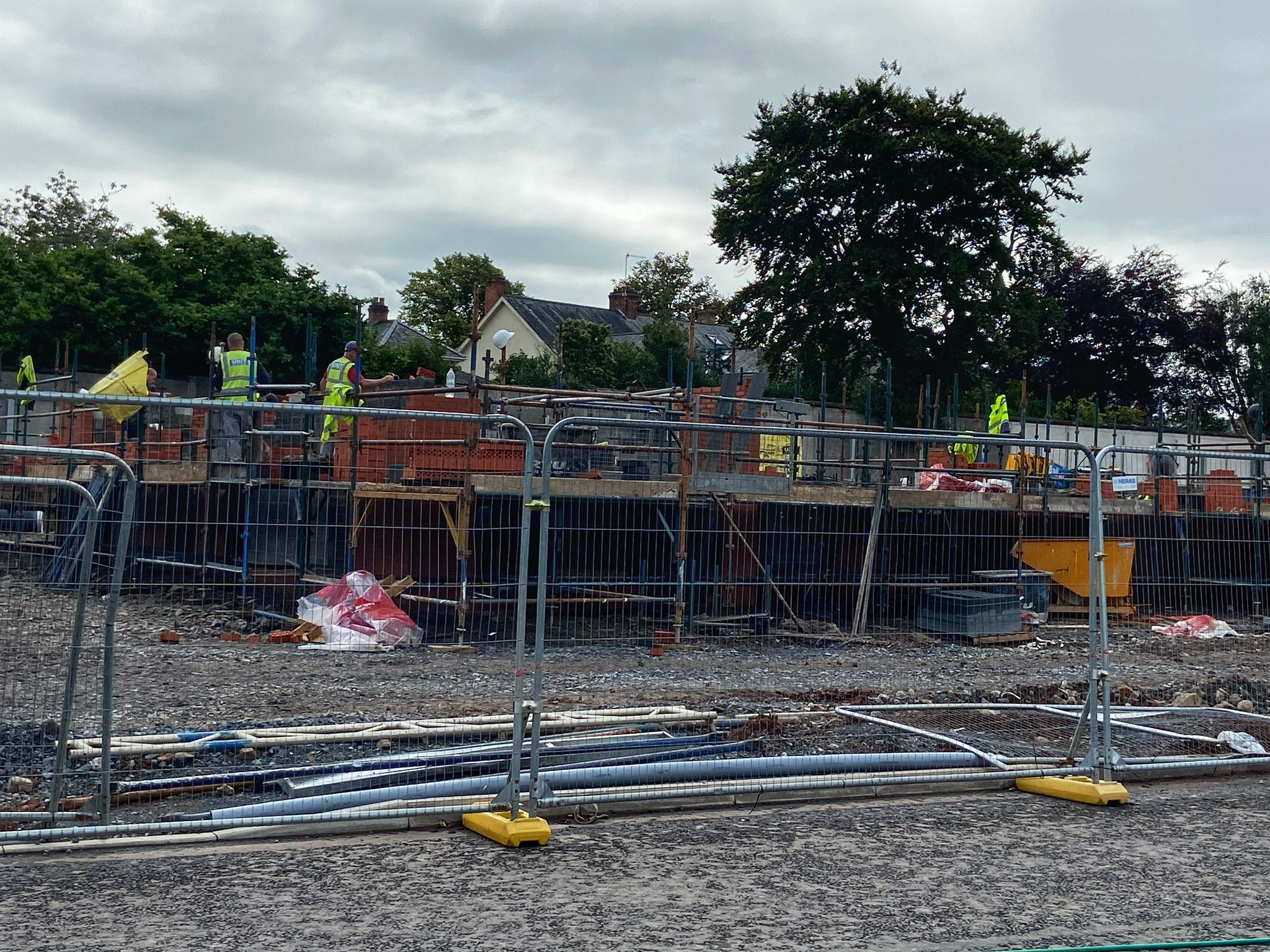 WORK ONGOING: Phase one of the 16 apartments is expected to be complete by March 2022.