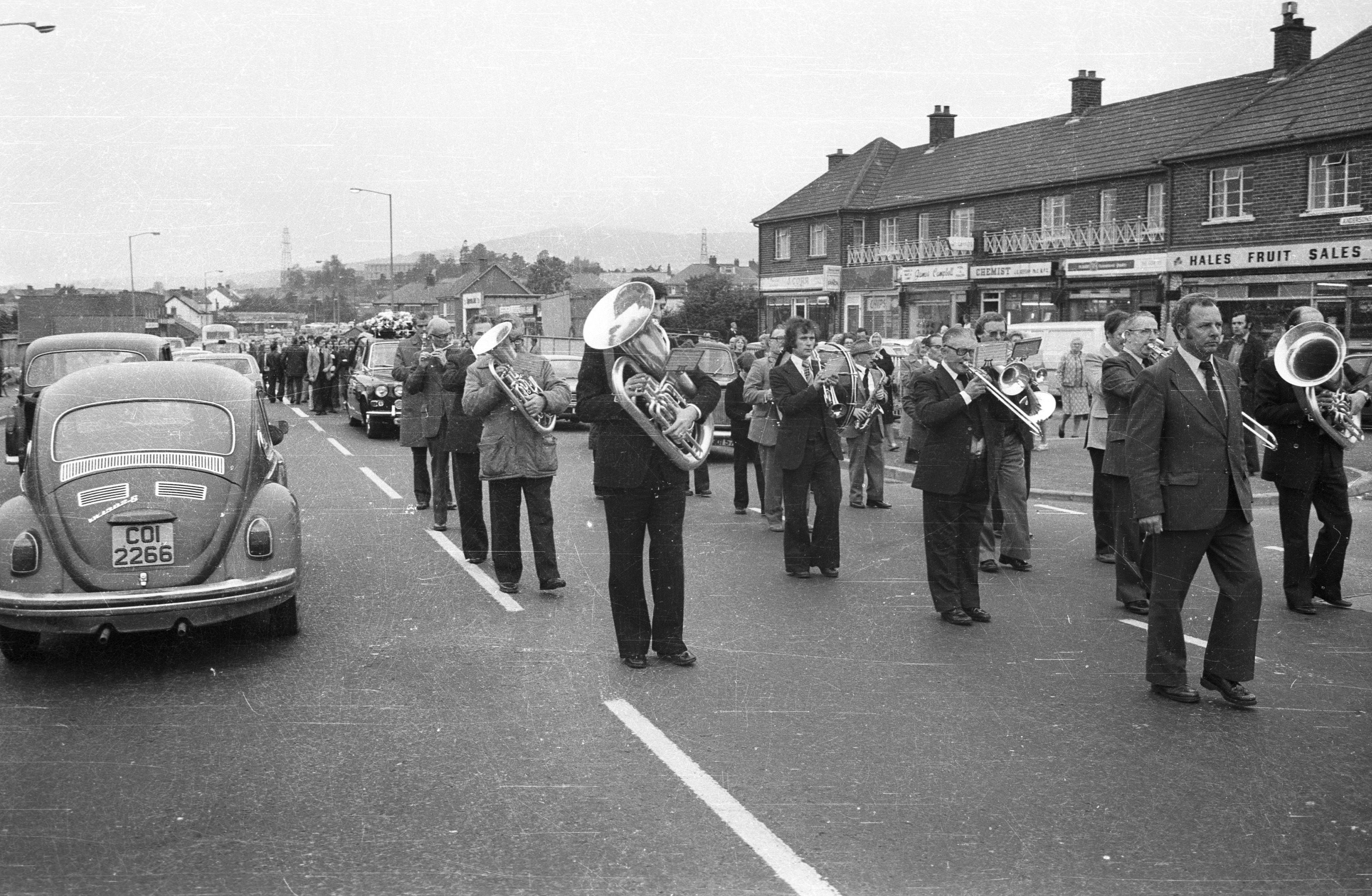 FINAL JOURNEY:The funeral took place this week in 1979 of Dan Campbell; musician with St Peter\'s Brass and Reed Band, republican and member of the Foresters and Felons Clubs, who was buried in Milltown Cemetery