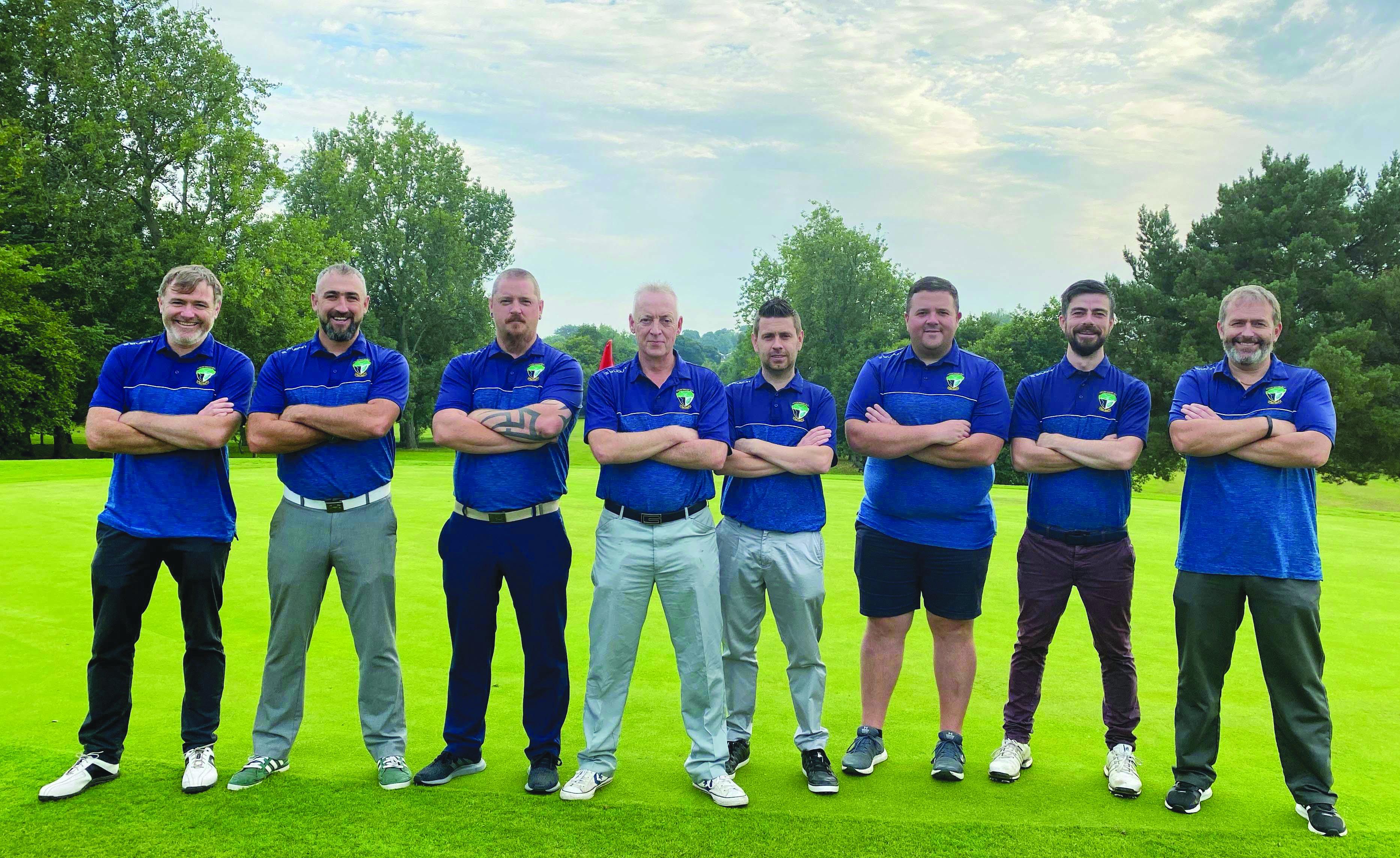 The Colin Valley team, L-R: Gerard Garland, Brian Conlon, Paul McAuley, Hugh McComb, Paul Hyland, Ciaran O'Connor, Kevin Scott and Stephen Garland.