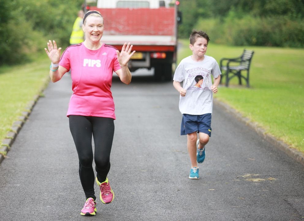 MARATHON EFFORT: Suzanne McCullagh (52) who is fundraising for PIPS Charity