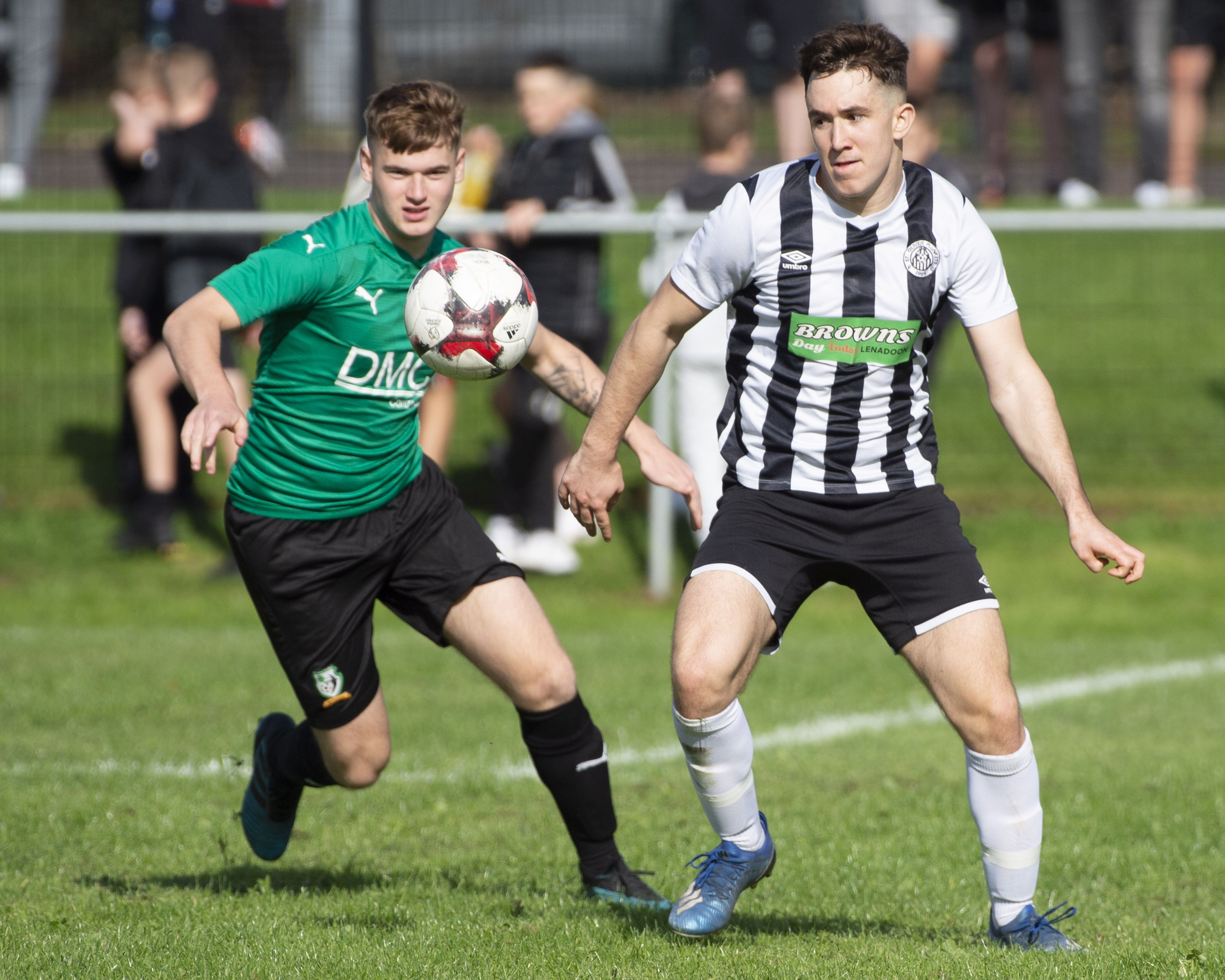 Action from Saturday\'s cup tie