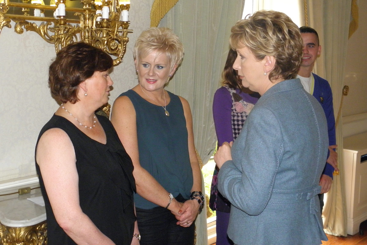 Mary mcaleese with pat perry and jean hand