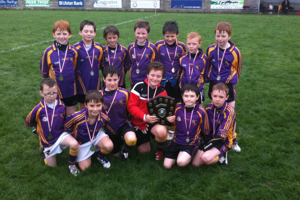 Carryduff p6 and p7teams winners in the carrickcruppen tournament