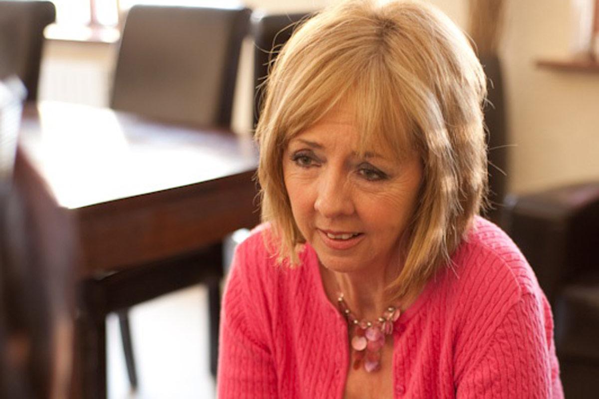 Joan freeman talking in pink
