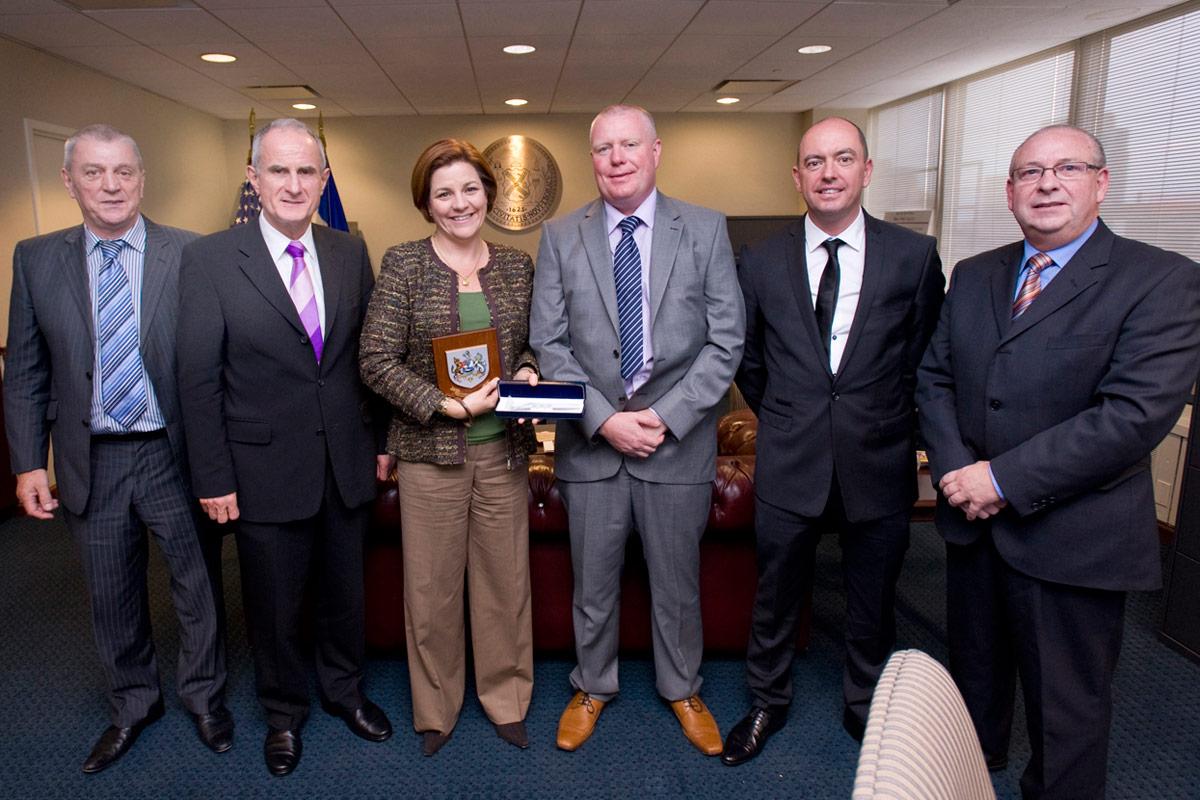 Speaker quinn and irish delegation