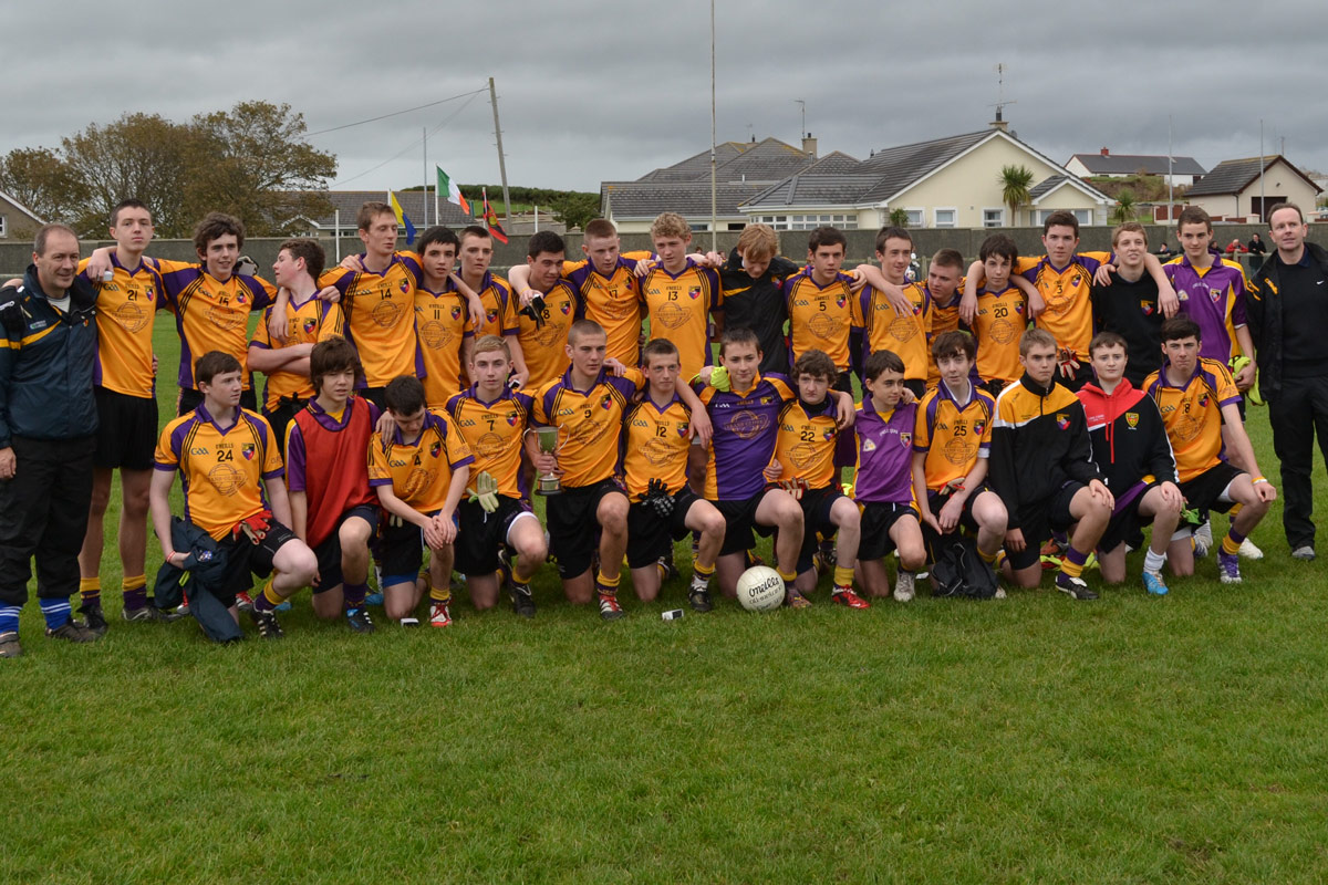 The victorious carryduff squad that won the east down under 16 football championshipfinal 072