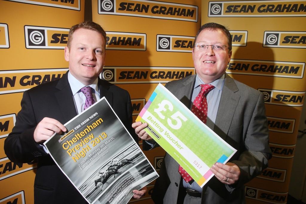 FESTIVALFEVER: Ronan and Brian Graham get together to launch the now famous Sean Graham Cheltenham Preview Night. The date: Monday, March 4. The venue: The Europa. It's not be missed if you're serious about racing –tickets available in Sean Graham shops