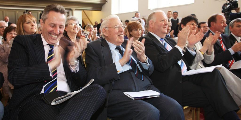 Ian Paisley jnr, left, has his views on Padraig Pearse