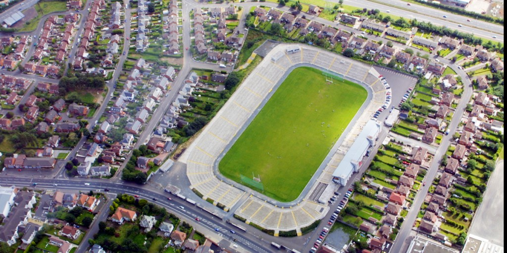 Casement Park in the middle of Andersonstown