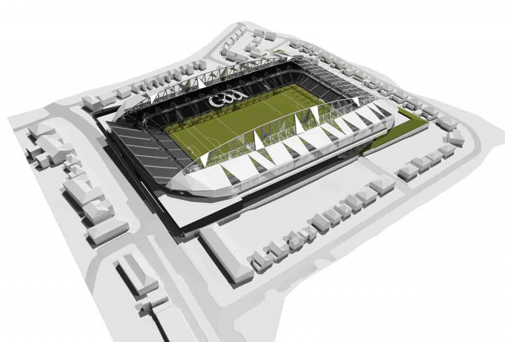 An architect's impression of the new Casement Park, due to open in 2015