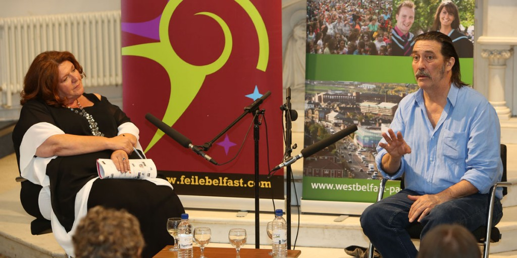 Ciarán Hinds in discussion with Kim Lenehan