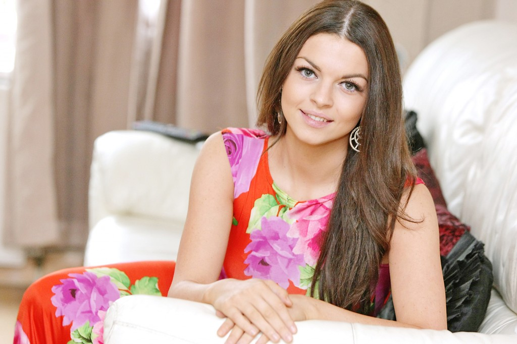 The Miss Bikini Belfast winner, Joelle Curoe, who's hoping to go one better in the capital in November