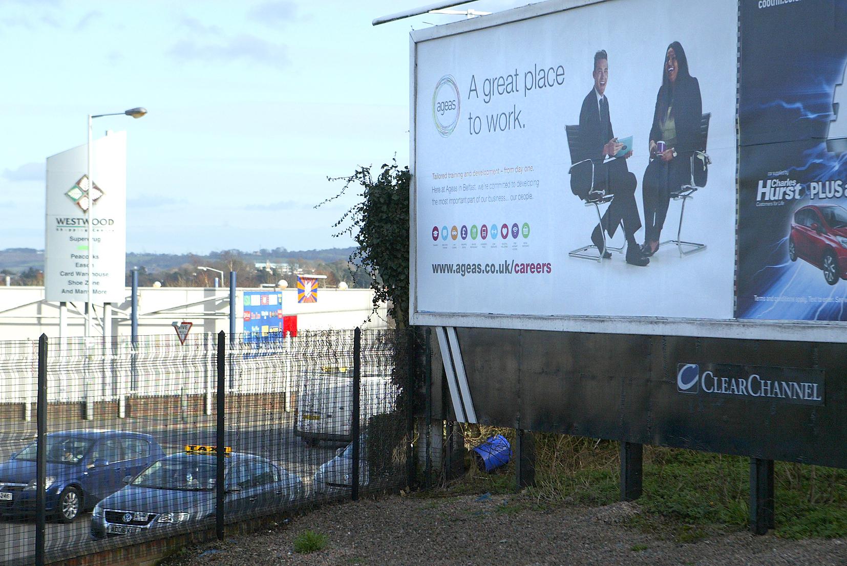 Ageas billboard kennedy way roundabout 343mj15