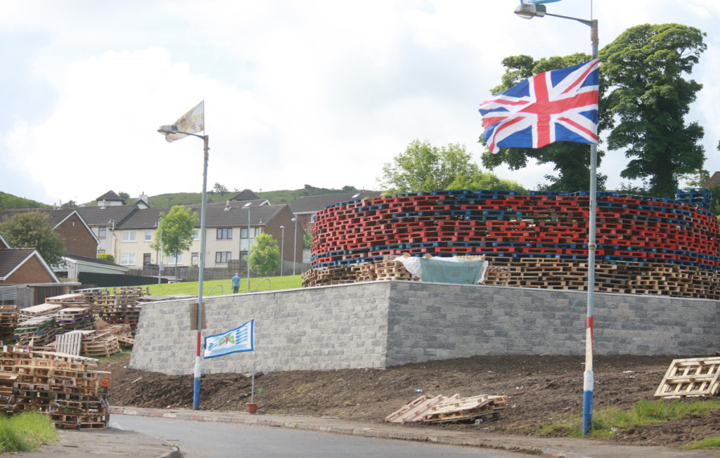 Last year Newtownabbey Council spent £30,000 on building this platform to accommodate the Ballyduff bonfire