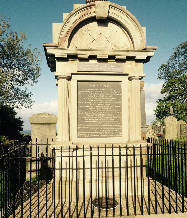 The Orr monument at Templecorran churchyard, Ballycarry