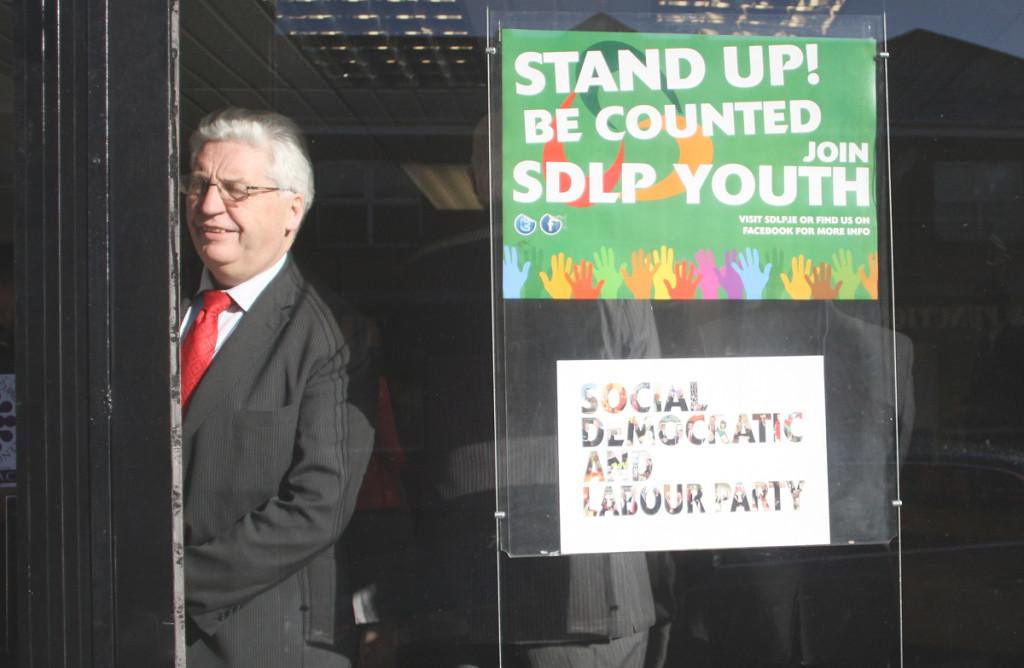 Alasdair McDonnell at the opening of the Glengormley constituency office, where he made the remarks