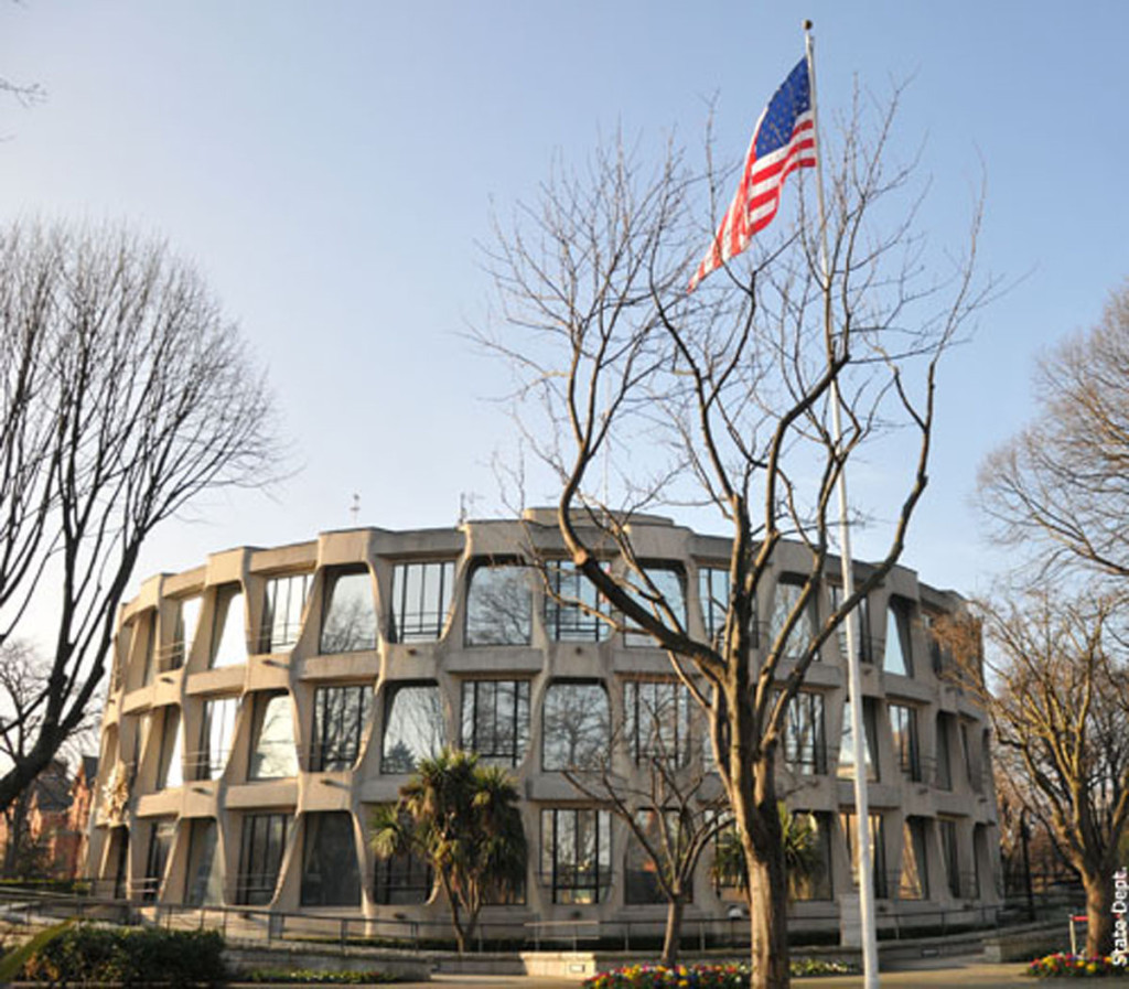 The United States Embassy in Dublin – from 2016 Irish students will have to a have job lined up before they cross the Atlantic